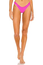 Acacia Swimwear Ho'okipa Mesh Bottom in Neon Rose