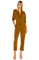 YFB CLOTHING Harmony Jumpsuit in Olive Bark