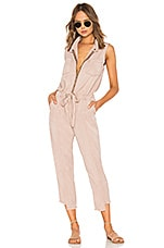 YFB CLOTHING Linette Jumpsuit in Sand Rose