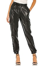 YFB CLOTHING Priscilla Pleather Pant in Black