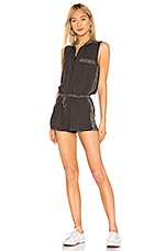 YFB CLOTHING Lorren Romper in Black Olive