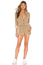YFB CLOTHING Noah Romper in Khaki