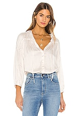 YFB CLOTHING Tressa Blouse in Sea Salt