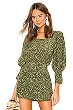 ADRIANA DEGREAS Silk Mille Punti Bodysuit in Green