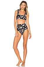 Chinoiserie Bikini Set in Black