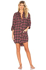 ANDERSON Jo Flannel Sleep Shirt in Big Sur