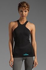 Athletic Tank in Black/Black