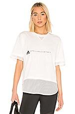 adidas by Stella McCartney Logo Tee in Core White