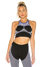 adidas by Stella McCartney PK Crop Top in Black & Joy Purple