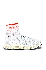 adidas by Stella McCartney Alpha Edge 4D Sneaker in Core White,True Orange & Core Black