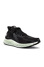 adidas Originals Alpha Edge 4D Sneaker in Core Black & FTW White & Core Black