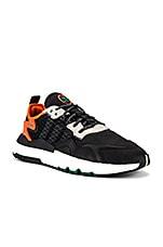 adidas Originals Nite Jogger in Black & Grey & Orange