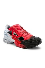 adidas by Raf Simons Replicant Ozweego Sneaker in Red & Halo Blue & Black