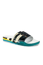 adidas by Raf Simons Samba Adilette Slides in Black & White