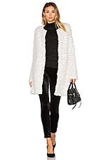 Knit Rabbit Fur Coat in White