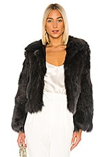 Adrienne Landau Fox Fur Jacket in Indigo