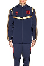 adidas Football Predator Zidane Hooded Jacket in Navy & Red