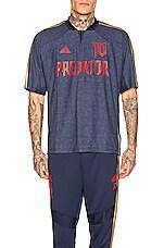 adidas Football Predator Zidane Jersey in Navy & Red