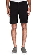 Slim Khaki Short in Black