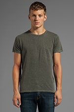 Back Seam Pocket Tee in Pigment Diesel