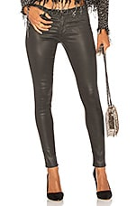 AG Adriano Goldschmied Legging Ankle in Vintage Leatherette Light Black
