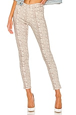 AG Adriano Goldschmied Farrah Skinny Ankle in Silk Python Ivory Dust
