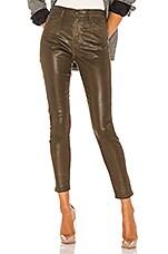 AG Adriano Goldschmied Farrah Skinny Ankle Leatherette in Dark Bayou