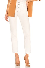 AG Adriano Goldschmied Isabelle Button Up Straight in Moderne White