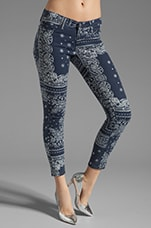 The Ankle Legging in Bandana Navy