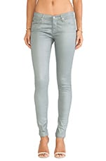 The Legging en Leatherette Luster Deep Quarry
