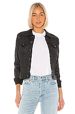 AG Adriano Goldschmied Robyn Jacket in Lacquered Pure Black