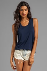 Hi-Lo Tank in Dark Navy