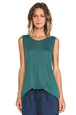Wren Muscle Tee in Marsh Green