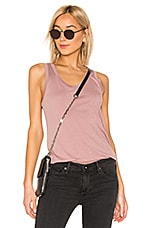 AG Adriano Goldschmied Cambria Tank in Industrial Mauve