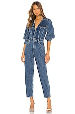 AGOLDE Balloon Sleeve Jumpsuit in Shelter