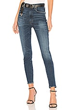 AGOLDE Roxanne Super High Rise Skinny in Freeway