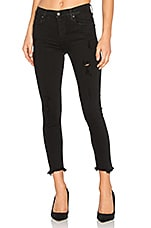 AGOLDE Sophie High Rise Skinny Crop in Harlow Destructed