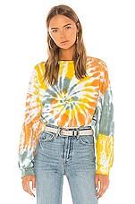 AGOLDE Balloon Sleeve Sweatshirt in Swirl