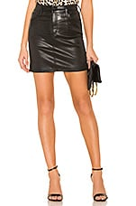 AGOLDE Lydia Skirt in Black Leatherette