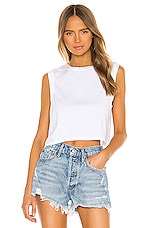 AGOLDE Cropped Muscle Tee in White