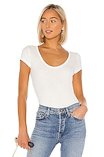 AGOLDE Rib Tee Bodysuit in White