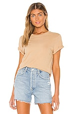 AGOLDE Mariam Classic Fit Tee in Noodle