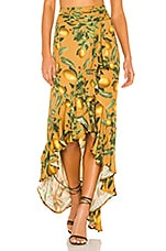 Agua Bendita Sofia Skirt in Evergreen