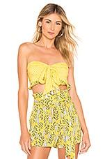 Agua Bendita x REVOLVE Marie Tie Front Top in Yellow