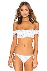 Agua Bendita Celia Bikini Top in Eve White