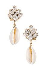 Anton Heunis Cluster Shell Earrings in Clear & Shell
