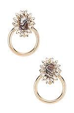 Anton Heunis Big Ring Earring in Grey & Gold