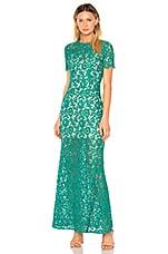 aijek Star-crossed Gown in Emerald Green