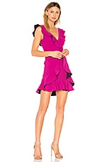 aijek Verona Ruffled Dress in Fuchsia