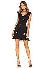 aijek Verona Ruffled Dress in Black & White